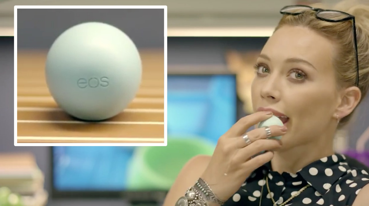 "Hillary Duff's ""Chasing the Sun"" Music Video, EOS Lipbalm"