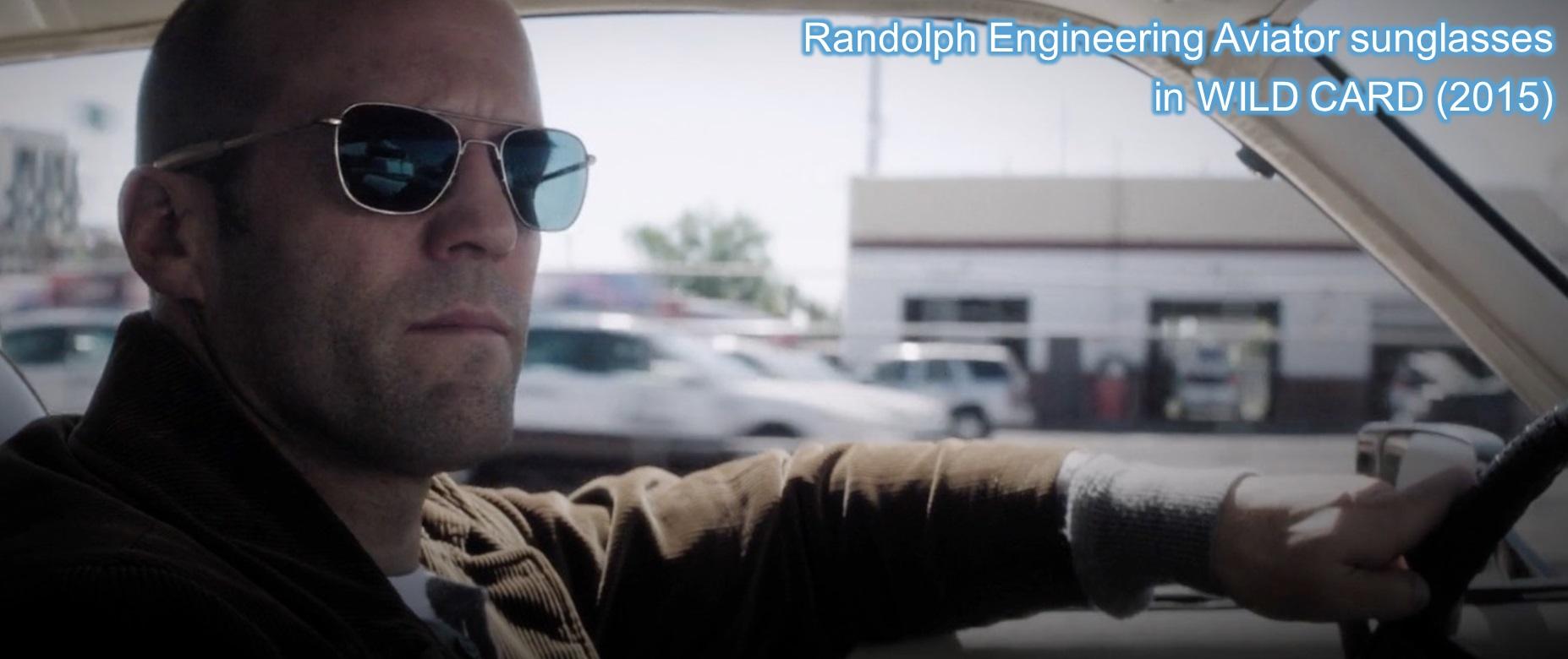 Randolp Engineering aviator sunglasses in wild card jason statham