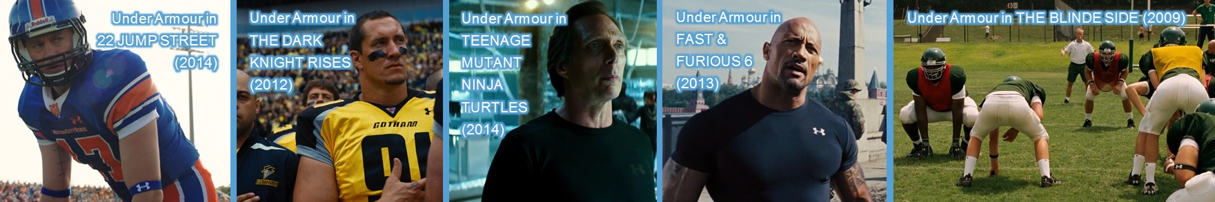 under armour in movies entertainment