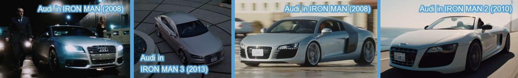 audi in iron man movies