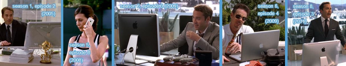 Apple computer mobile phone laptop in entourage tv show
