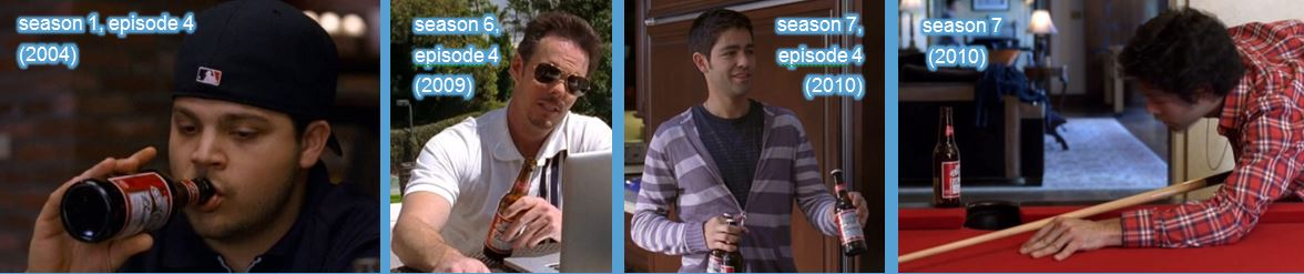 Budweiser beer in entourage tv show