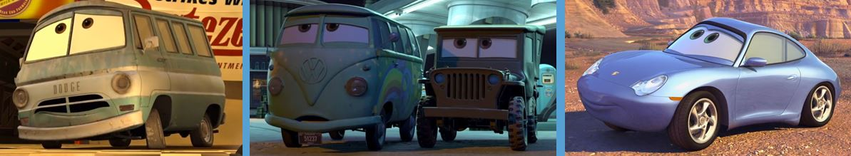 car brands in cars 2006 disney