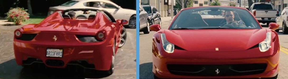 Ferrari in entourage