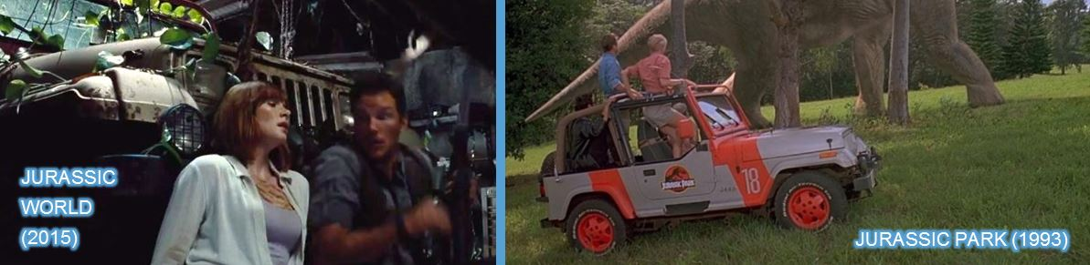 jeep in Jurassic park and Jurassic world