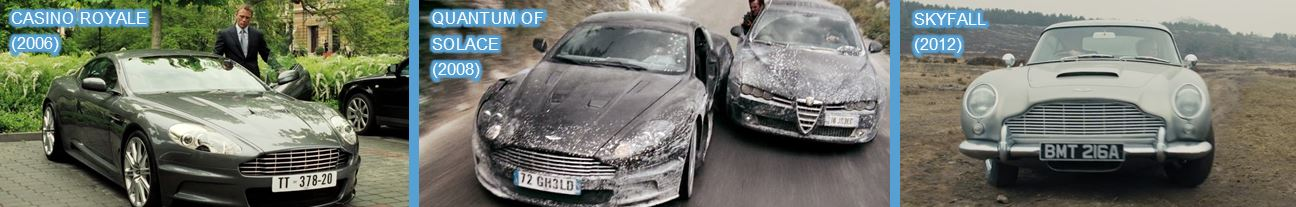 Aston martin in bond longer