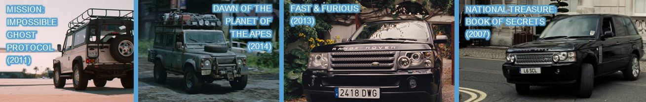 land rover in other movies