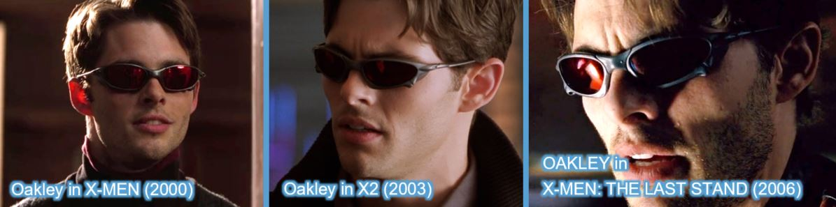 oakley james marsden xmen x-men trilogy product placement brand last stand X2