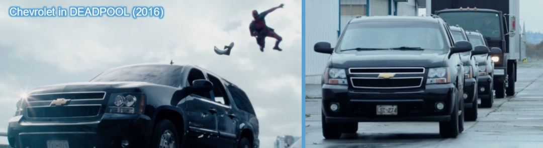 chevrolet product placement concave brand tracking deadpool