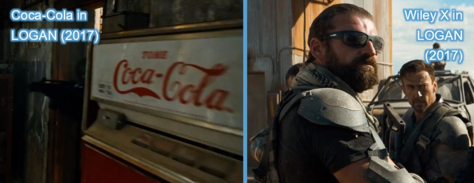 coca cola wiley x product placement in logan wolverine