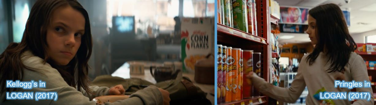 food kellogg's corn flakes pringles product placement in logan wolverine