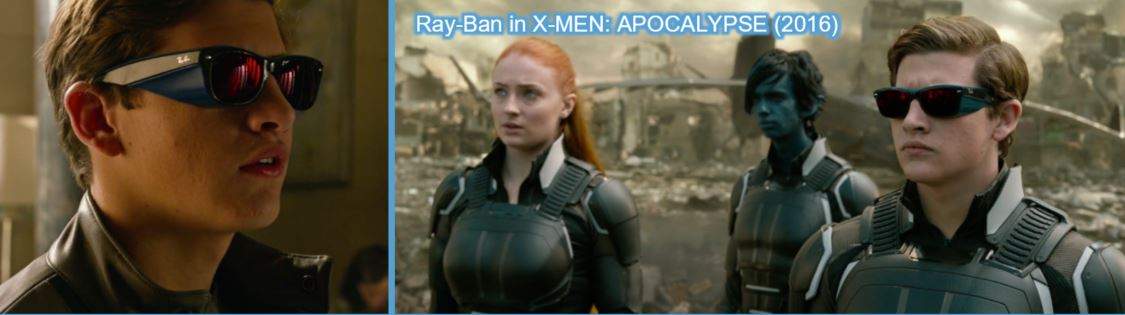 ray ban ray-ban product placement concave brand tracking xmen x-men apocalypse