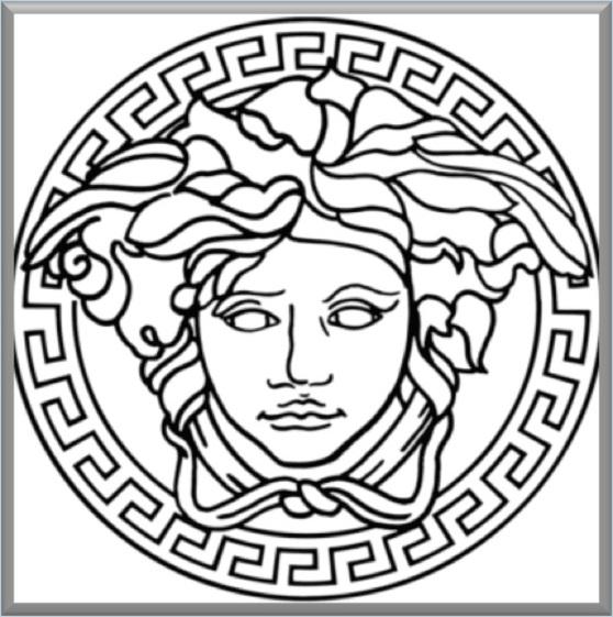 versace logo - crop