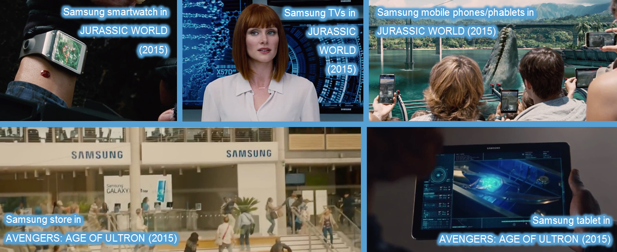 samsung product placement