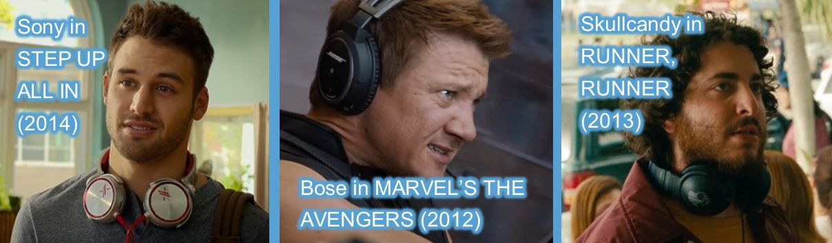 headphones in movies sony bose skullcandy