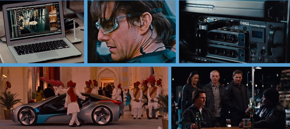 brands in mission impossible ghost protocol