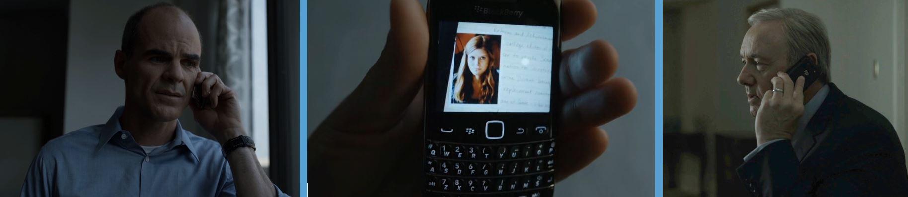 blackberry handsets phone mobile phones in house of cards season 4