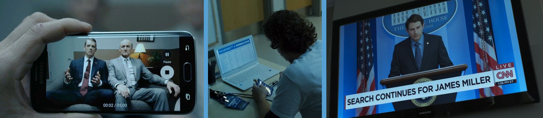 samsung phone laptop TV in season 4 of house of cards