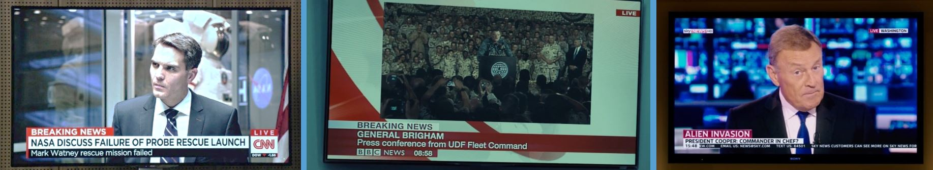 TV channels cnn bbc sky news movie product placement