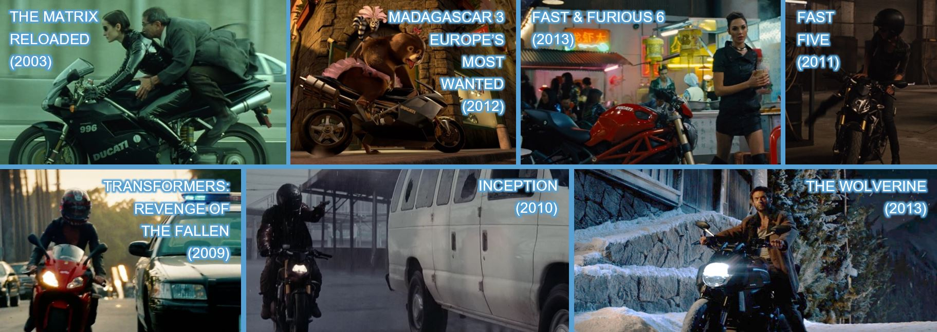 ducati teenage mutant ninja turtles TMNT out of the shadows Brand branding product placement concave brand tracking lenovo the matrix madagascar 3 europe's most wanted fast and furious 6 fast & furious 6 fast five transformers revenge of the fallen inception the wolerine motorcycle