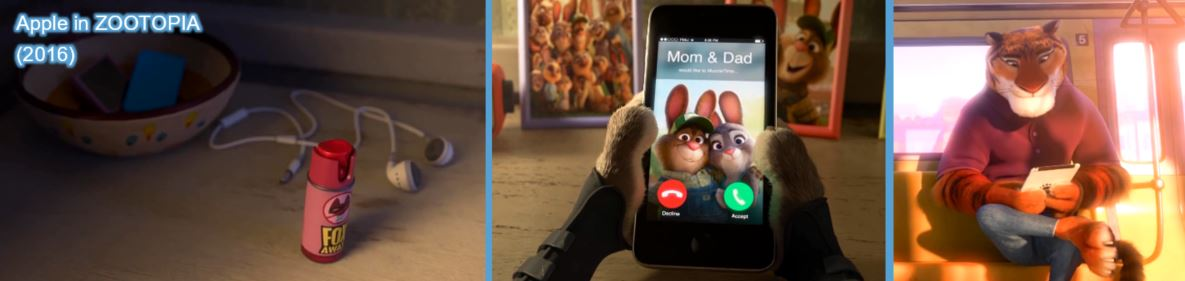 apple product placement concave brand tracking zootopia