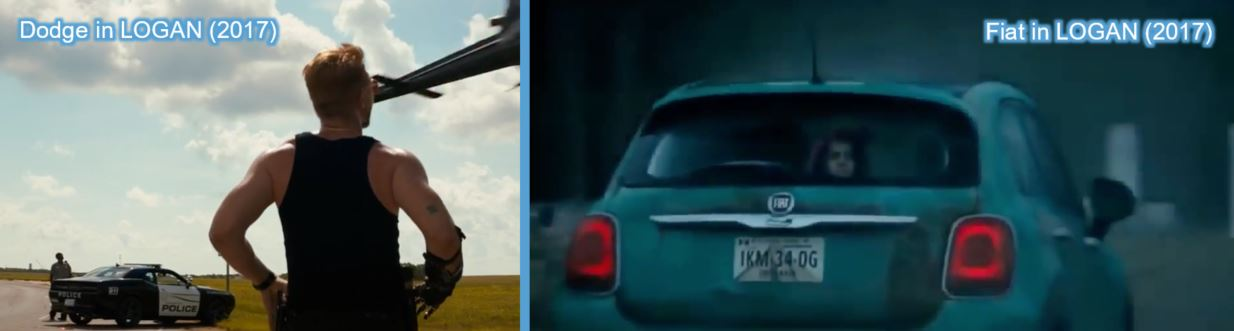 dodge fiat product placement in logan wolverine
