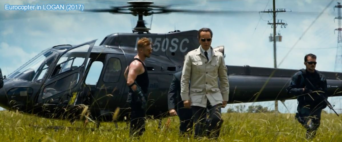 eurocopter product placement in logan wolverine
