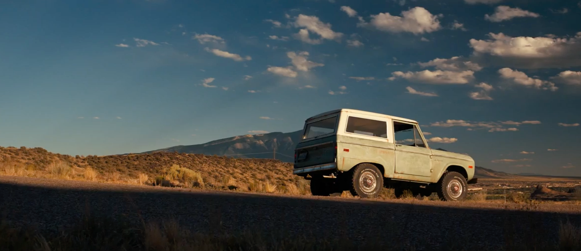 old ford product placement in logan wolverine