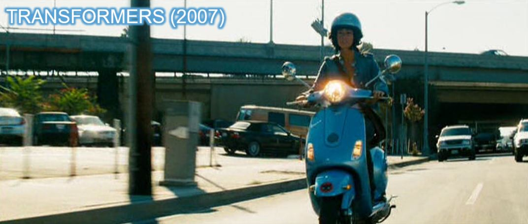 Vespa 2007 megan fox transformers product placement branding marketing the last knight advertising concave Brand tracking