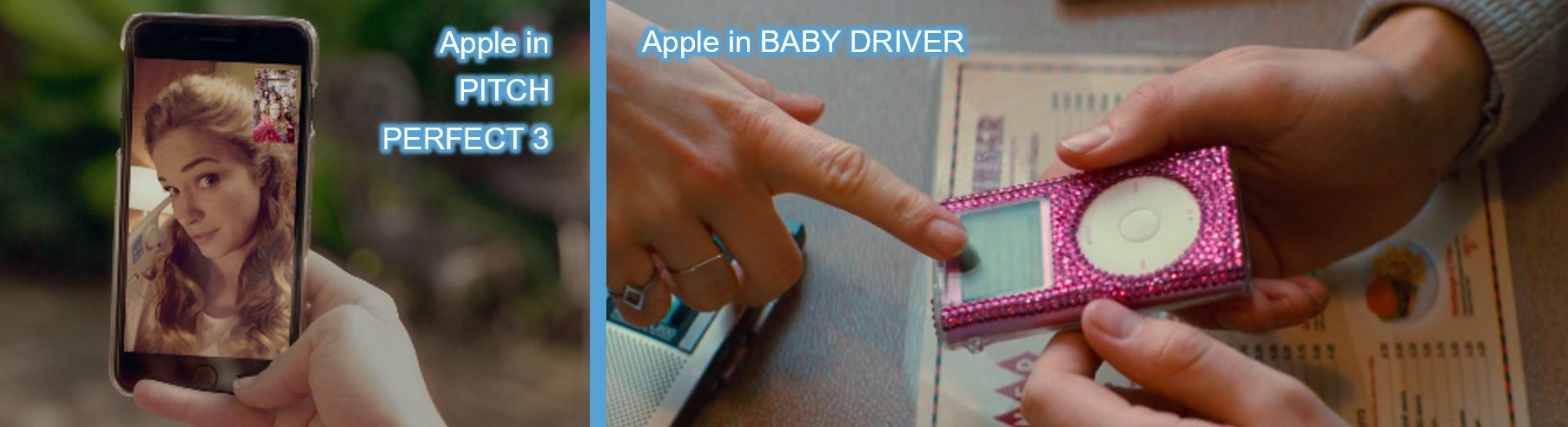 concave brand tracking product placement brand mentions Apple pitch perfect 3 baby driver
