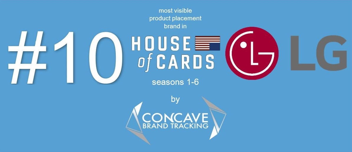 #10 10 most visible product placement brand in HOUSE OF CARDS Concave Brand Tracking