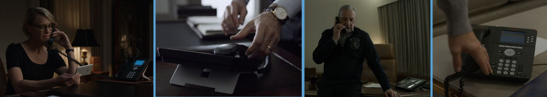 Avaya #4 4 10 most visible product placement brand in HOUSE OF CARDS Concave Brand Tracking