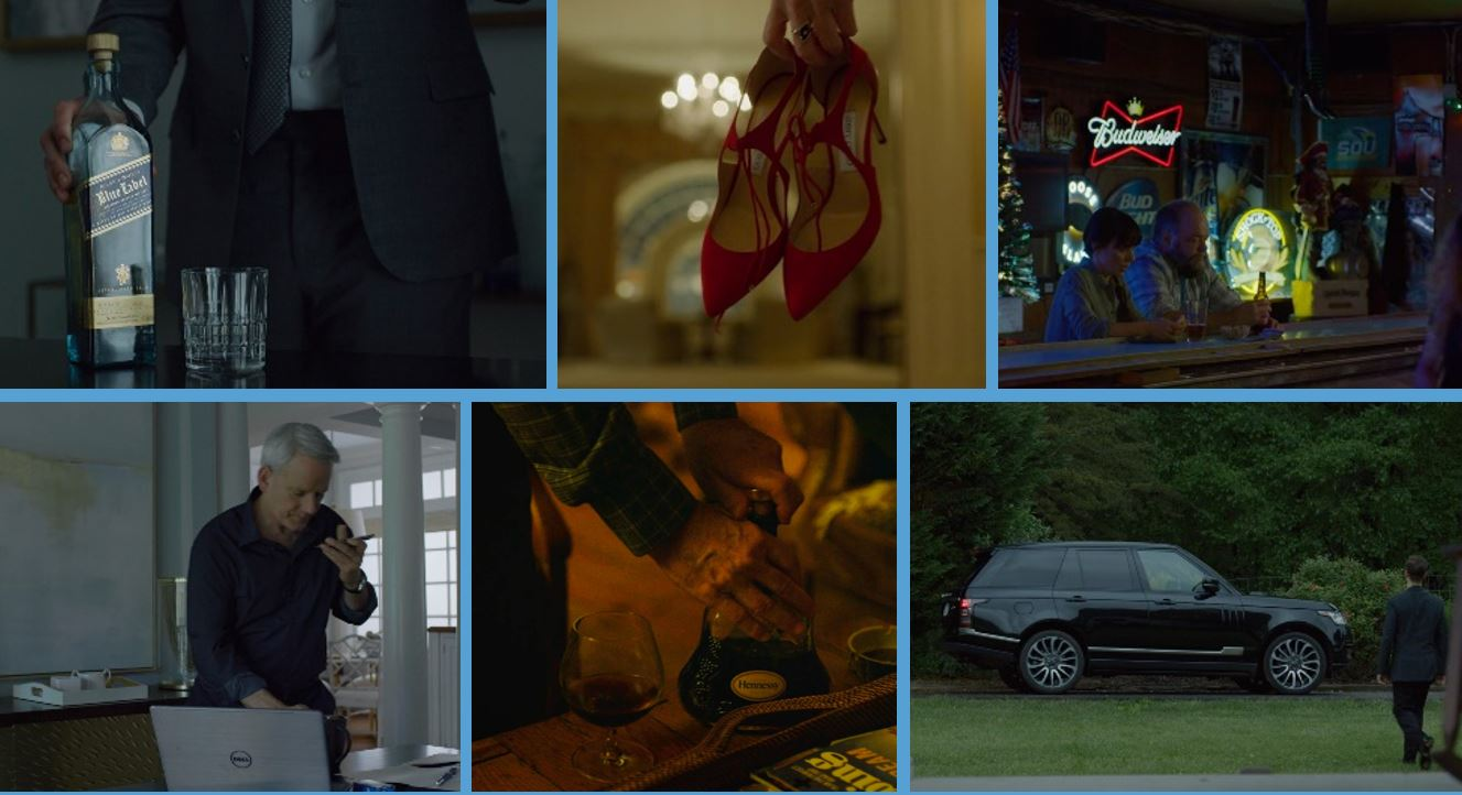house of cards season 6 final 6 brands product placement hennessy land rover dell johnnie walker blue label jimmy choo budweiser