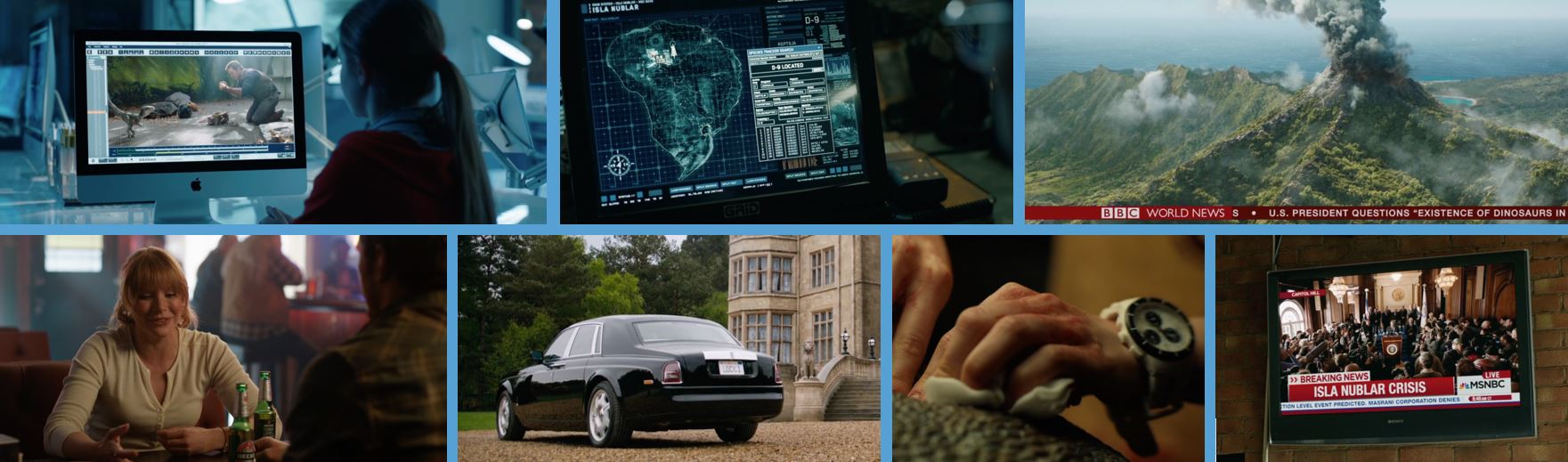 2018 product placement concave brand Tracking most brand filled movies branded entertainment marketing apple BBC Jurassic world fallen kingdom Grid becks beck's rolls royce rolls-royce swatch sony msnbc