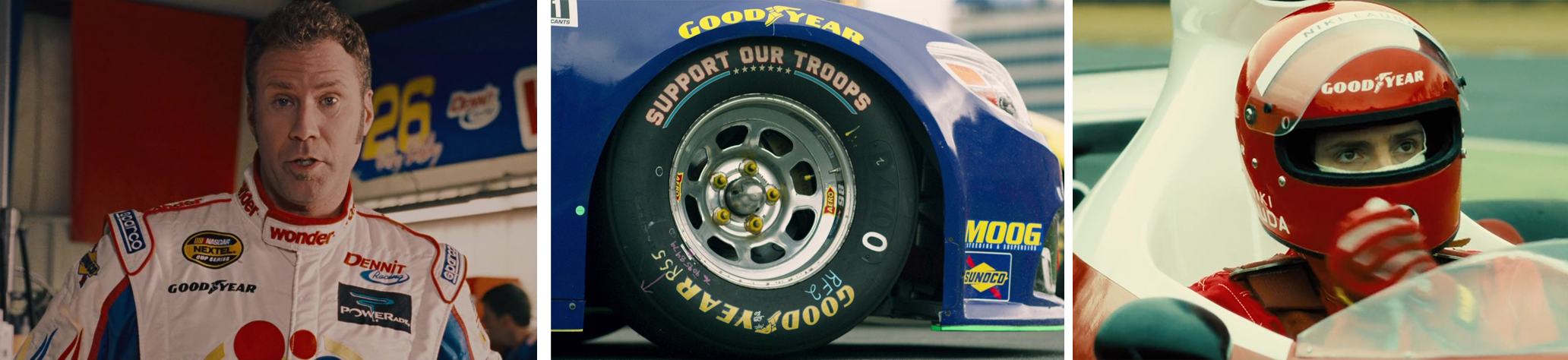 Goodyear, Concave brand tracking, product placement, brands, movies, entertainment marketing, branded integration, integration marketing, analysis, valuation, metrics, measurement, talladega nights, ricky bobby, rush, logan lucky