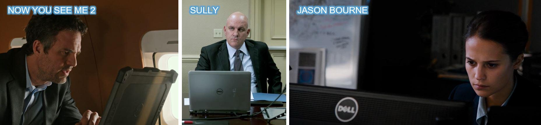 DEll in movies concave brand tracking 2016 top 10 Brands top 10 product placement sully jason bourne now you seem me 2