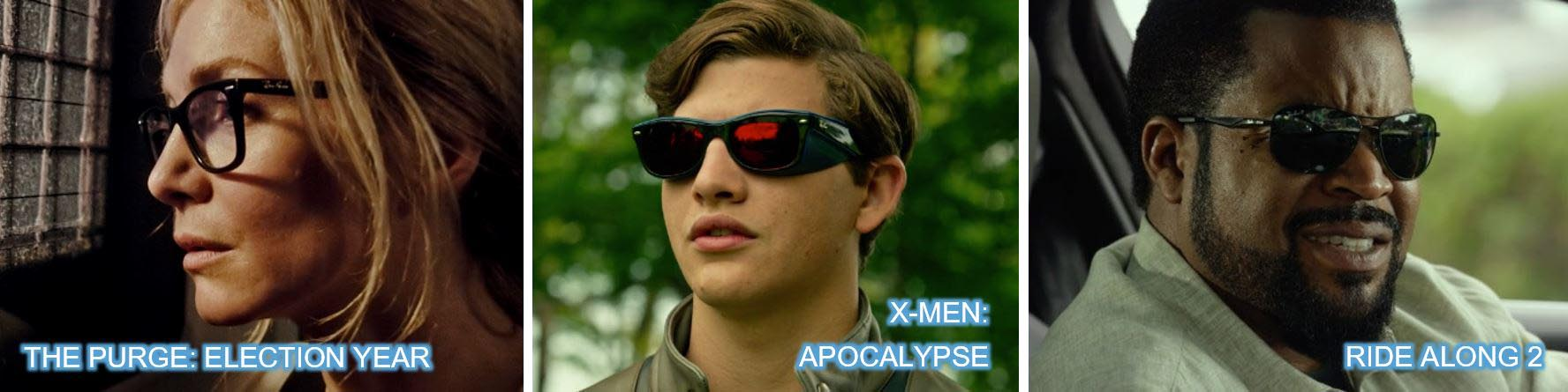 Ray ban ray-ban glasses sunglasses the purge election year x-men apocalypse x men ride along 2 ice cube concave brand tracking top 10 Brands 2016 top 10 product placement
