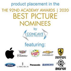 product placement in 2020 Oscars Best Picture nominees – 92nd Academy Awards