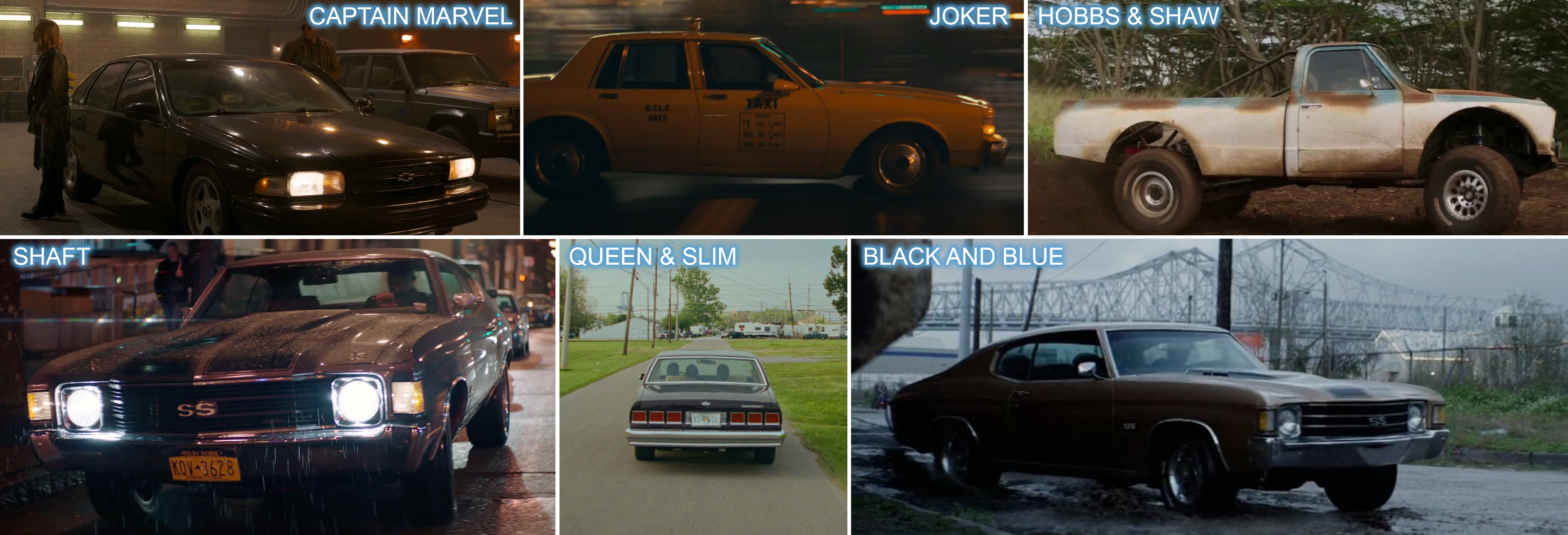 Chevrolet product placement in 2019 films