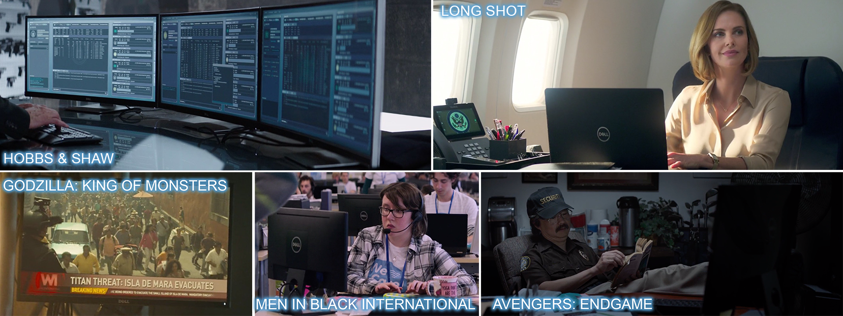 Dell product placement in HOBBS & SHAW, LONG SHOT, GODZILLA: KING OF MONSTERS, MEN IN BLACK INTERNATIONAL and AVENGERS: ENDGAME