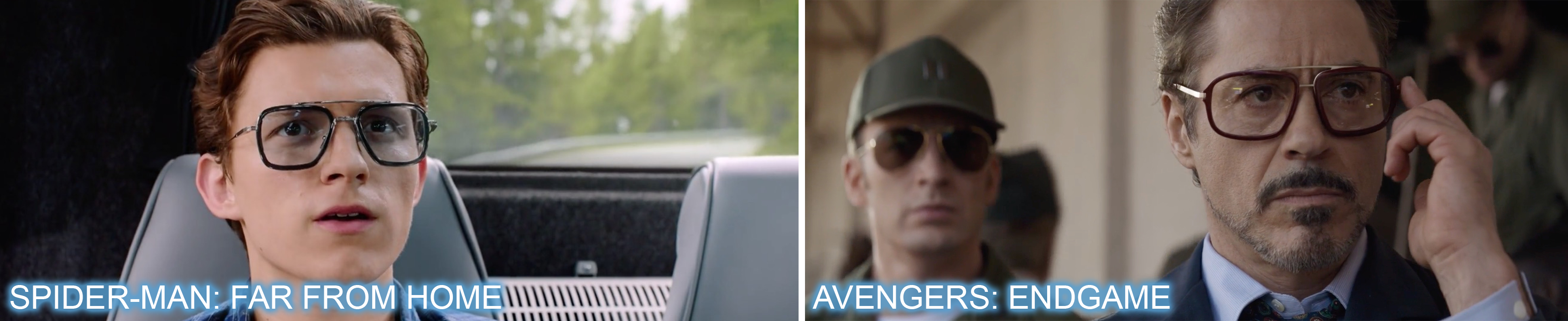 product placement, brands, movies, entertainment marketing, branded integration, brand integration, integration marketing, analysis, valuation, metrics, measurement, dita, glasses, sunglasses, robert downey jr, tom holland, avengers endgame, spiderman, spider-man, far from home
