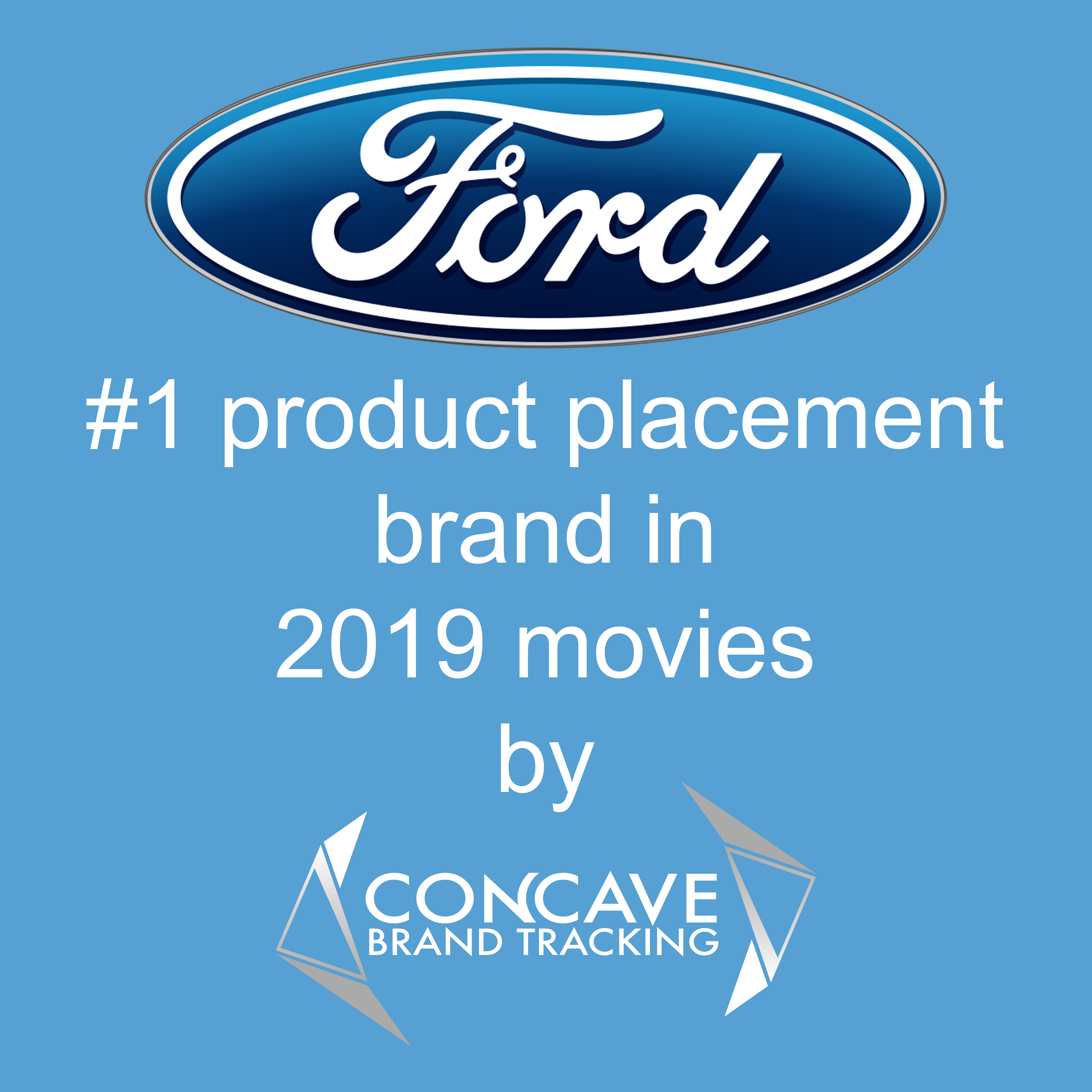 Ford #1 product placement brand in 2019 movies