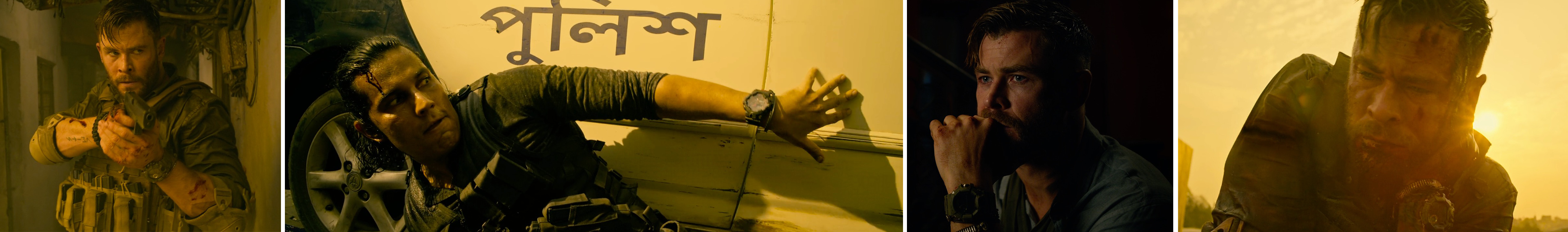 Casio g shock product placement watch worn by Chris Hemsworth in Netflix's extraction