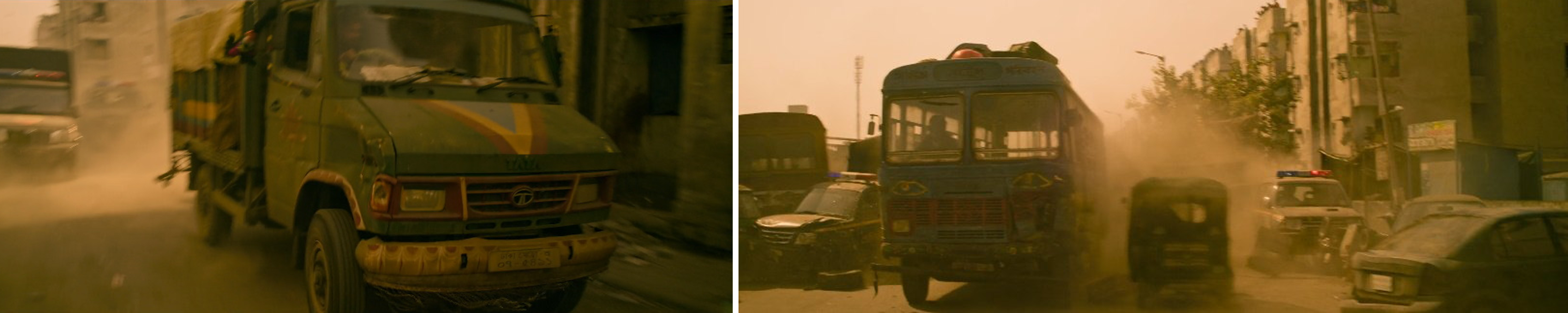 Tata bus and cars product placement in Netflix's Chris Hemsworth film EXTRACTION