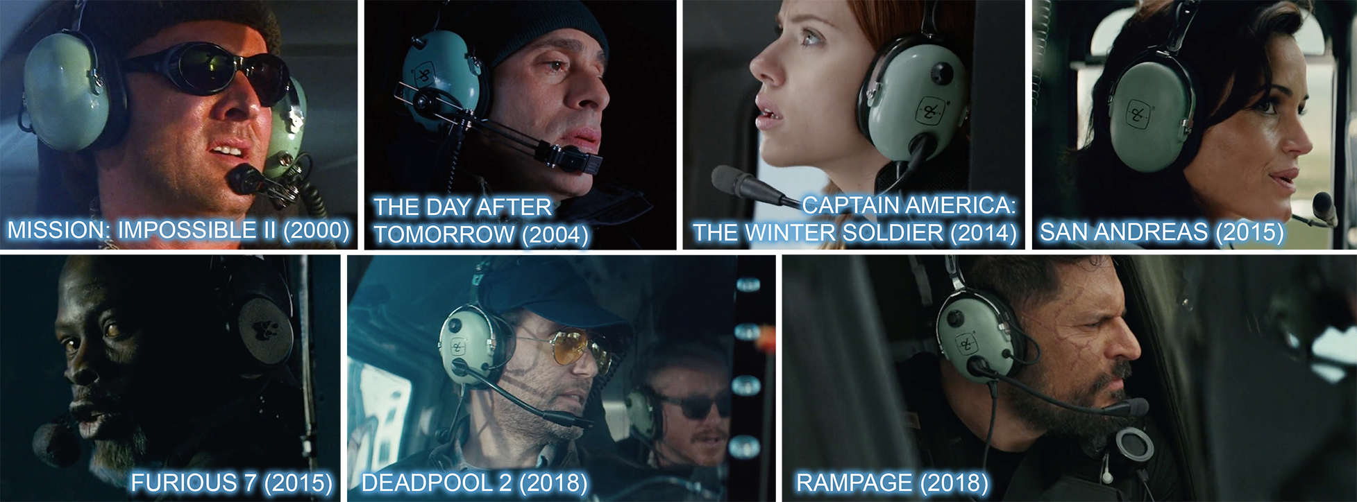 David Clark headsets product placements in movies and film