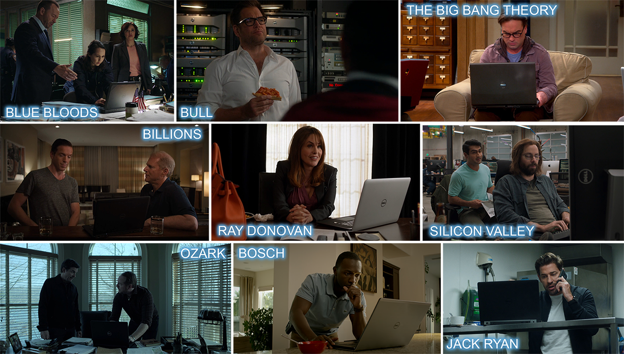 Dell product placement in BLUE BLOODS, BULL, THE Big Bang THEORY, BILLIONS, RAY DONOVAN, SILICON VALLEY, OZARK, BOSCH and JACK RYAN.