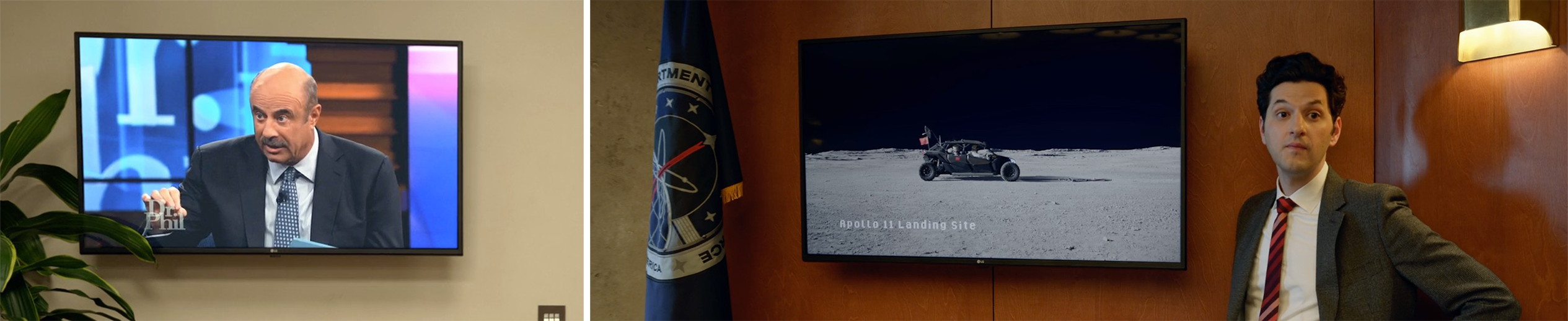 LG TV product placement in Netflix's SPACE FORCE