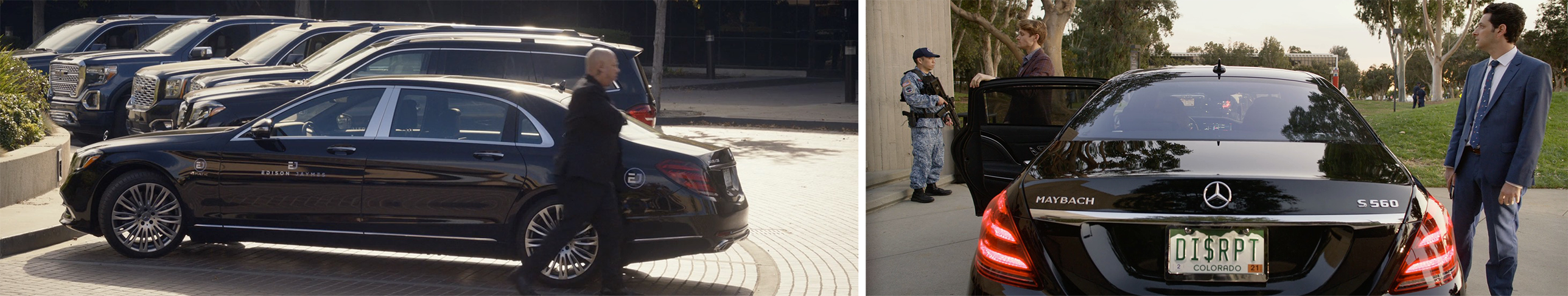 Mercedes-Maybach car product placement in Netflix's Space Force