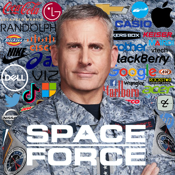 product placement in Netflix's Space Force