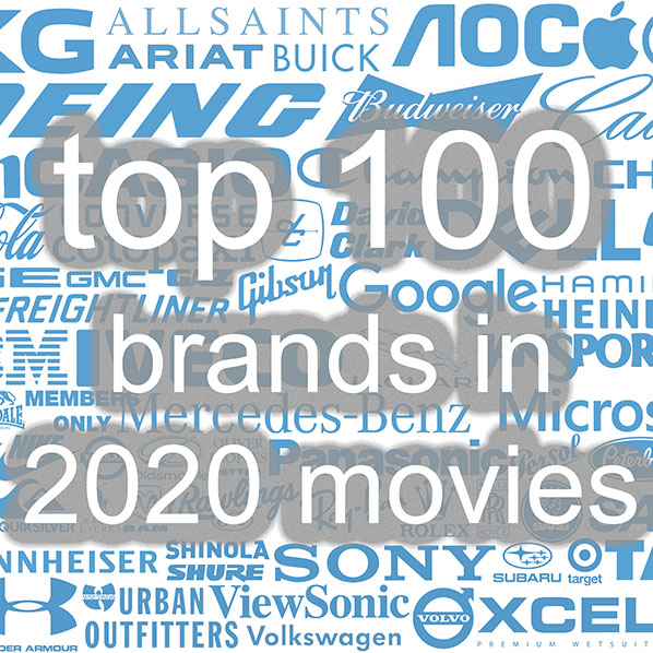 Top 100 brands in 2020 movies by Concave Brand tracking